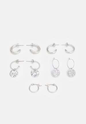 EARRINGS 5 PACK - Náušnice - silver-coloured