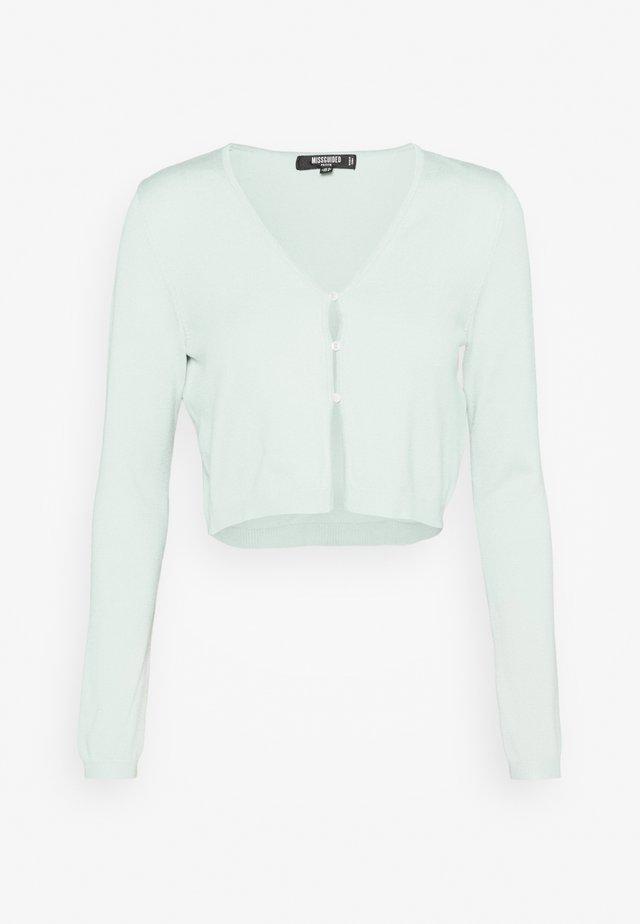 PEARL FRONT CARDIGAN - Cardigan - mint