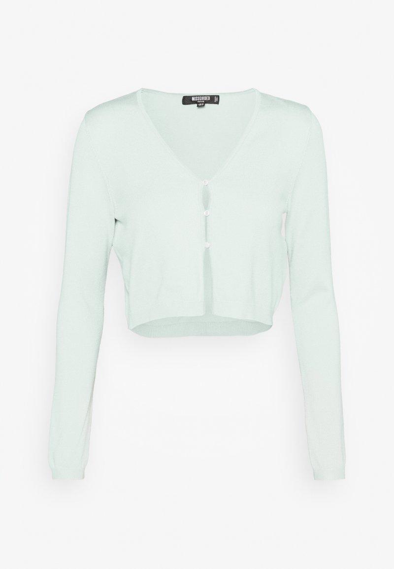 Missguided Petite - PEARL FRONT CARDIGAN - Vest - mint
