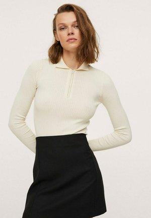 TEXTURÉE - A-line skirt - noir