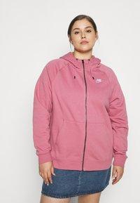 Nike Sportswear - HOODY - Zip-up hoodie - desert berry - 0