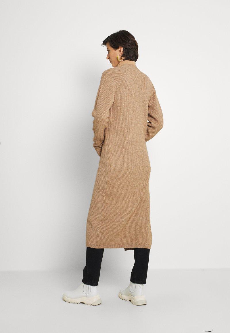 Object Tall - OBJMALENA LONG CARDIGAN - Cardigan - chipmunk melange