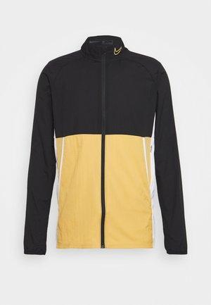 ACADEMY - Kurtka sportowa - black/white/jersey gold