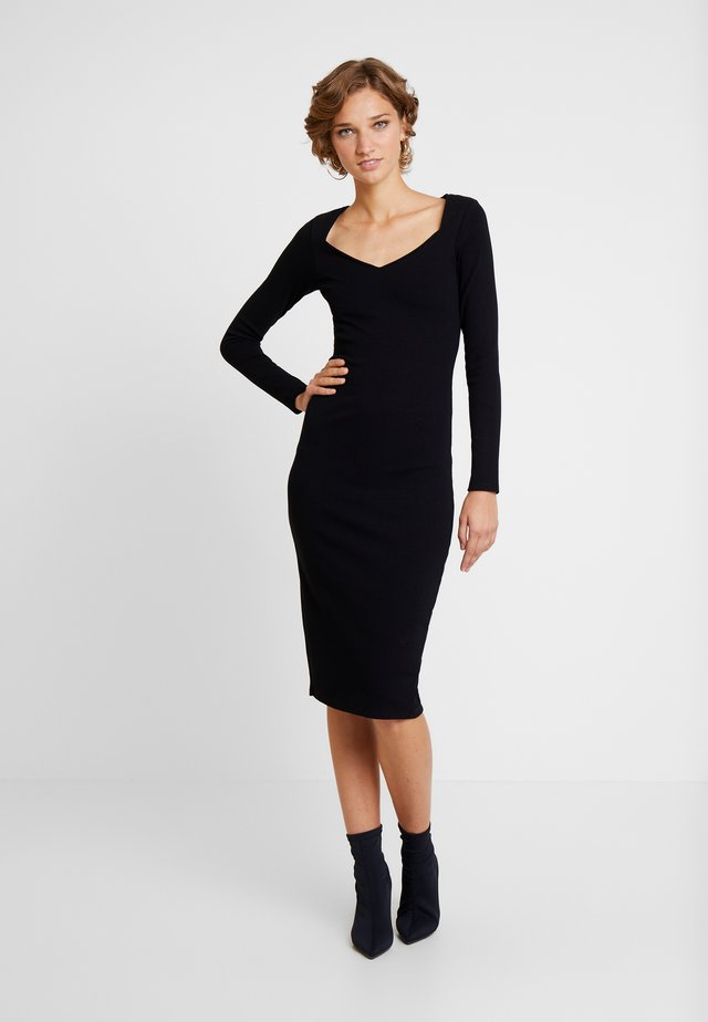 VESTIDO MALHA NEW HERVE - Shift dress - preto reativo
