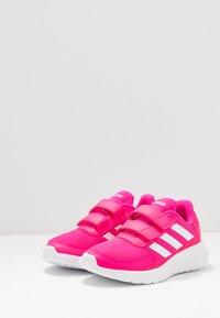 adidas Performance - TENSAUR RUN - Zapatillas de running neutras - shock pink/footwear white/shock red - 3