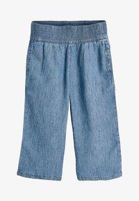 Next - DENIM LIGHT WASH CULOTTES WITH SCRUNCHIE (3-16YRS) - Straight leg jeans - blue - 1