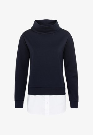 TWO-IN-ONE MIT STEHK - Sweatshirt - dunkelblau