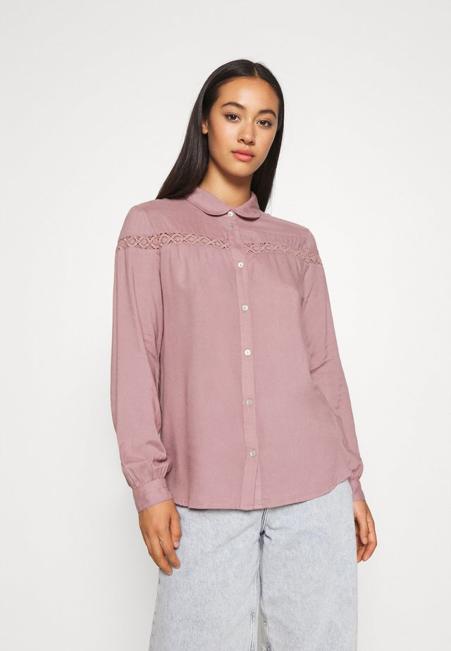 JDYROSALINA - Button-down blouse - elderberry