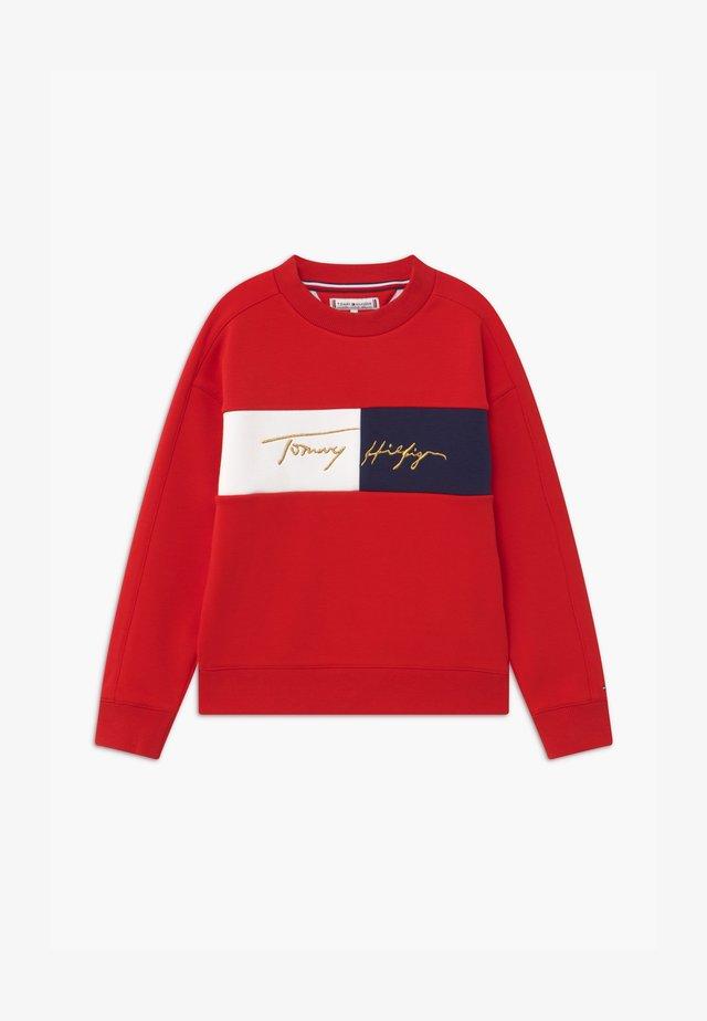 ICONS LOGO CREW - Sweatshirt - red