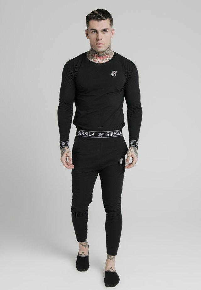 LOUNGE TEE - Bluzka z długim rękawem - black