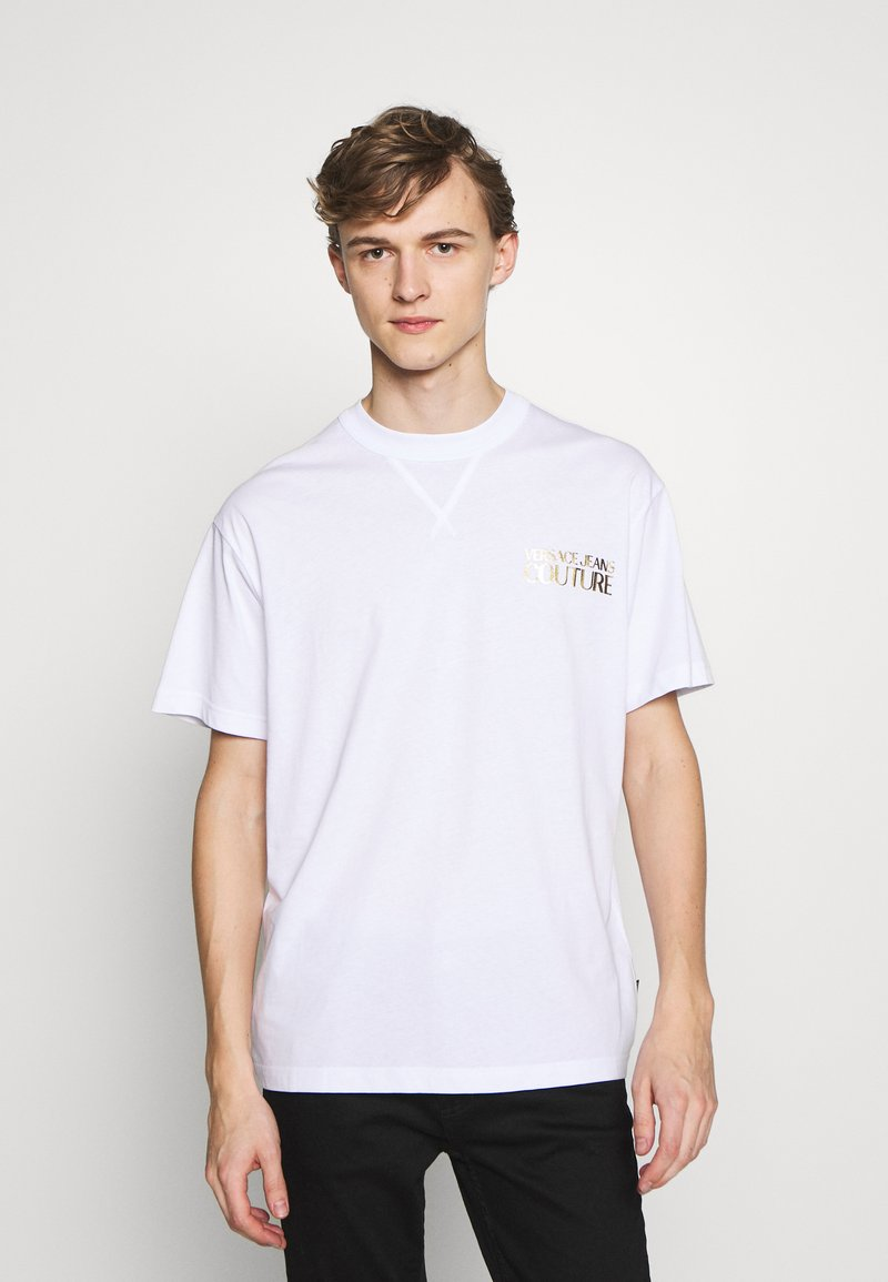 Versace Jeans Couture - CHEST LOGO - T-shirt print - white