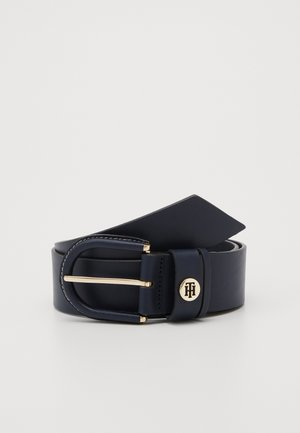 HIGH WAIST OVAL BUCKLE BELT - Waist belt - blue