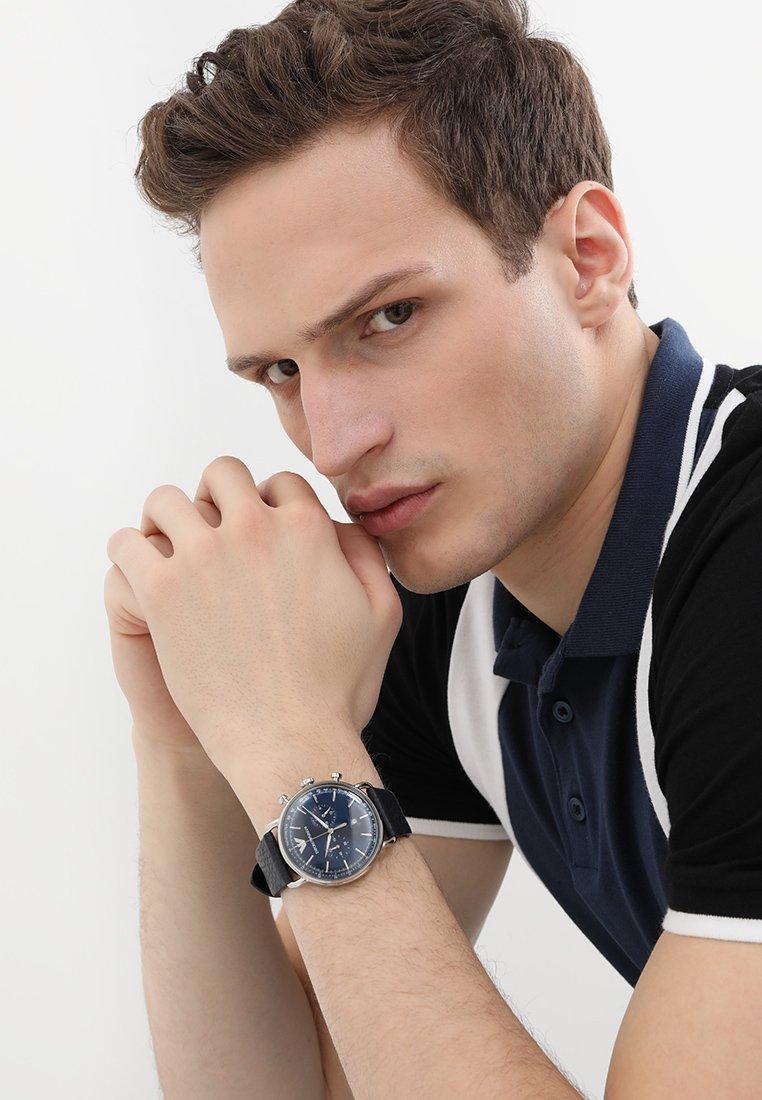 Emporio Armani - Chronograph watch - blau