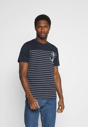 PRINTED HARBOUR STRIPE - T-shirt con stampa - dark blue
