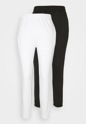 2 PACK BASIC JOGGER - Tracksuit bottoms - white/black