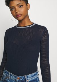 G-Star - POINTELLE R SLIM KNIT WMN L\S - Jumper - sartho blue - 5