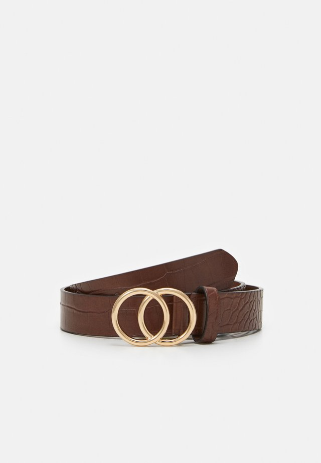 LILY - Belt - brown crocco/shiny gold-coloured