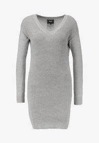 Object - OBJDEAH DRESS - Pletené šaty - light grey melange - 3