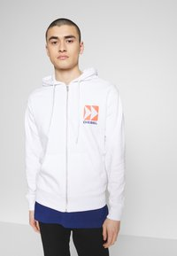 Diesel - BRANDON - Zip-up hoodie - white - 2