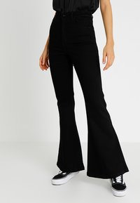 Abrand Jeans - A DOUBLE OH  - Flared Jeans - black denim - 0