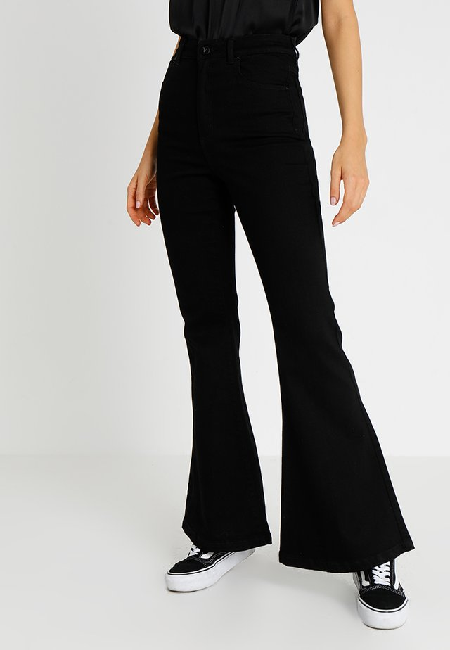 A DOUBLE OH  - Jean flare - black denim