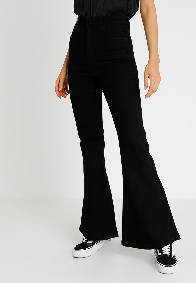 Abrand Jeans - A DOUBLE OH  - Flared Jeans - black denim