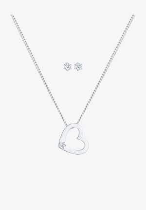 JEWELRY SET HEART - Earrings - silber