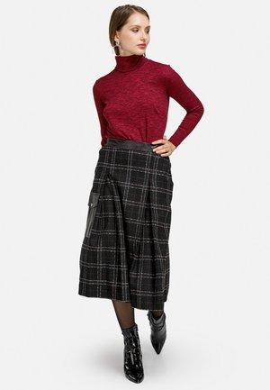 KAROROCK - Pleated skirt - schwarz