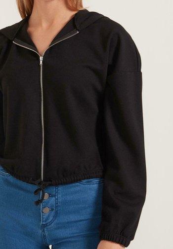 Zip-up hoodie - nero