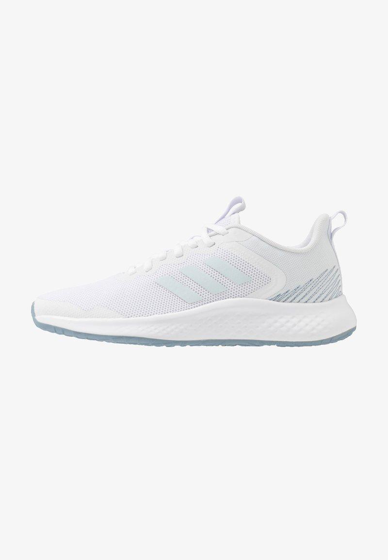 adidas Performance - FLUIDSTREET - Obuwie treningowe - footwear white/sky tint/blue