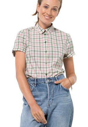 LITTLE LAKE - Button-down blouse - light moss checks