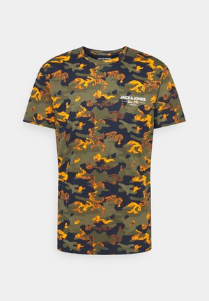 JJSOLDIER TEE CREW NECK - Print T-shirt - navy blazer