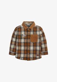Next - CHECK BADGE  - Shirt - brown - 0