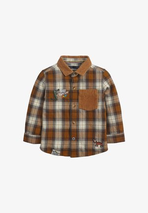 CHECK BADGE  - Shirt - brown