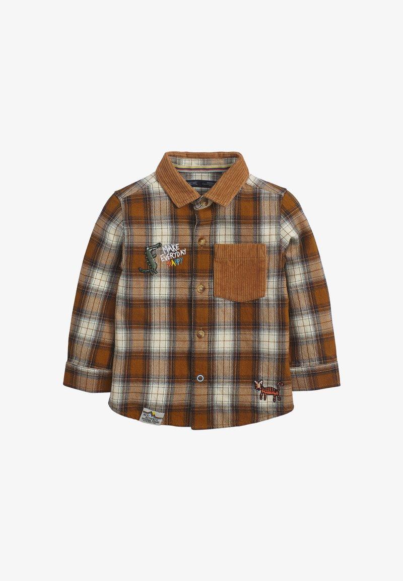 Next - CHECK BADGE  - Shirt - brown