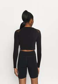 ONLY Play - ONPJABRIL SHORT - Long sleeved top - black - 2