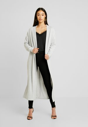 NMTESS LONG CARDIGAN - Strickjacke - light grey melange