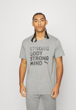PERFORMANCE SLOGAN TEE - T-shirt print - medium gray heather