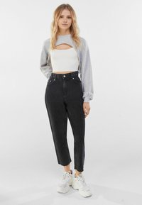 Bershka - Jeans straight leg - dark grey - 1