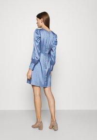 Closet - CLOSET PUFF SLEEVE MINI DRESS - Day dress - blue - 2