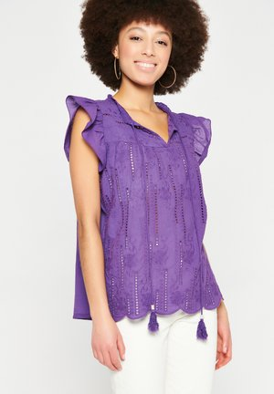 WITH BUTTERFLY SLEEVES - Blouse - purple
