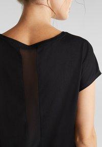 Esprit Sports - MIT NETZ-EINSATZ - Print T-shirt - black - 4