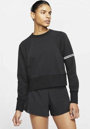 NIKE PRO DRI-FIT GET FIT WOMEN'S CREW - Sweatshirt - black/white