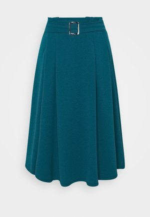 EMERSON MIDI SKIRT - Spódnica trapezowa - dark teal blue