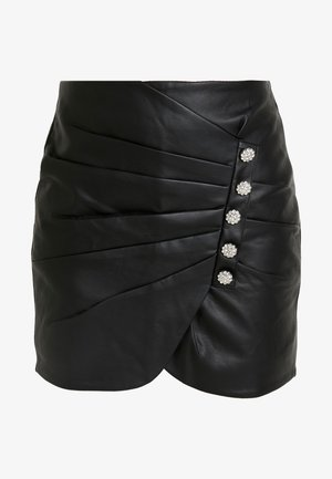 SKIRT - Minifalda - black