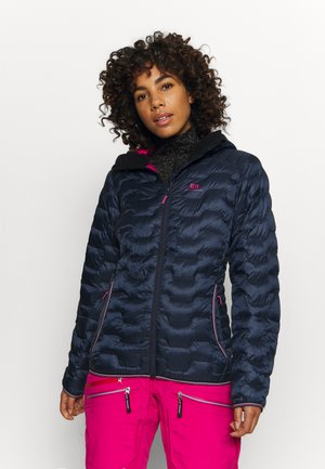 WOMENS MOTION HOOD - Ski jacket - dark blue