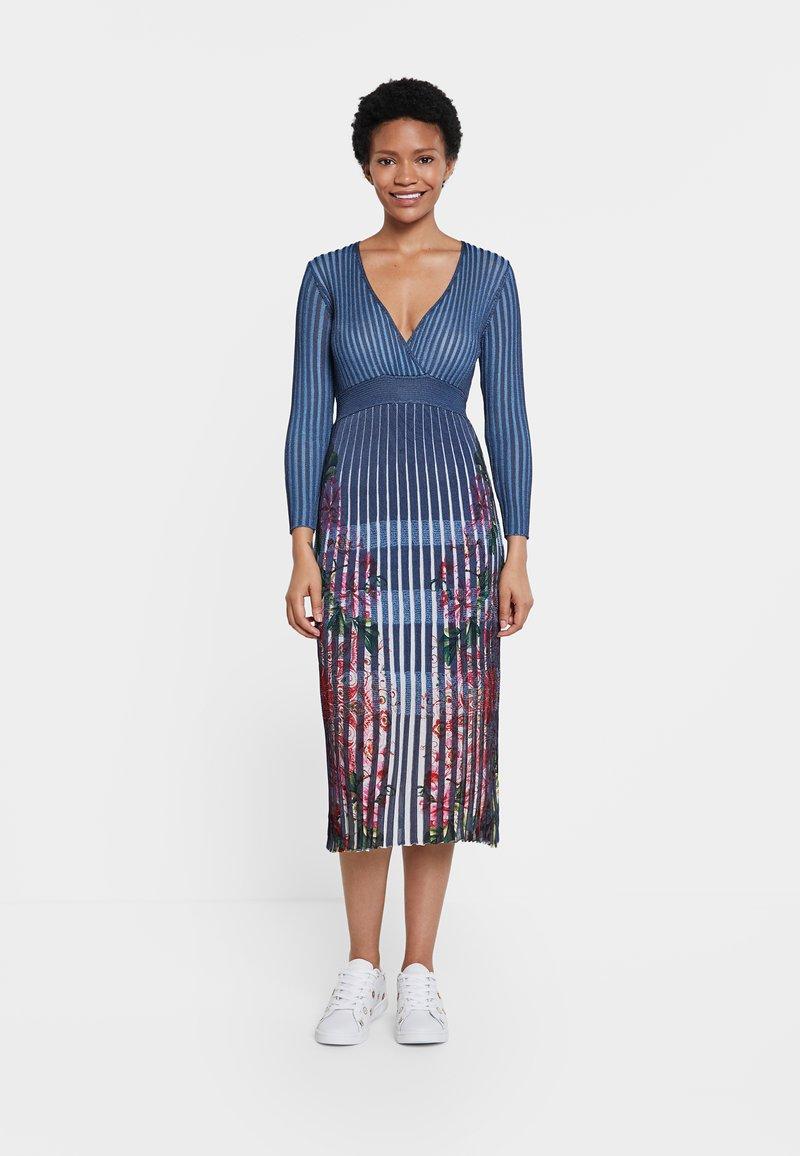 Desigual - CLOUD - Jumper dress - blue
