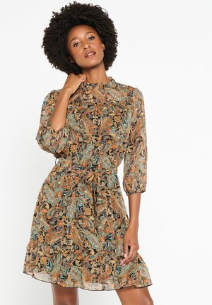 WITH PAISLEY PRINT - Day dress - ocher