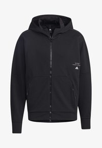 adidas Performance - MUST HAVES ENHANCED AEROREADY HOODED - Sweatjacke - black - 6