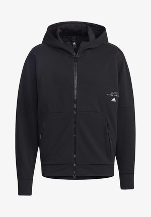 MUST HAVES ENHANCED AEROREADY HOODED - Mikina na zip - black